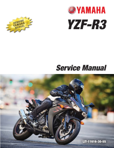 yamaha motorcycle yzf-r3 abs  workshop & repair manual