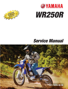 YAMAHA MOTORCYCLE WR250R Workshop & Repair manual | Documents and Forms | Manuals