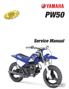 YAMAHA MOTORCYCLE PW50 2017-2020 Workshop & Repair manual | Documents and Forms | Manuals