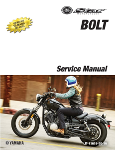 YAMAHA MOTORCYCLE BOLT BOLT R-SPEC Workshop & Repair manual | Documents and Forms | Manuals