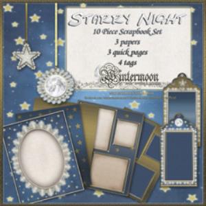 one starry night 10 piece scrapbook set