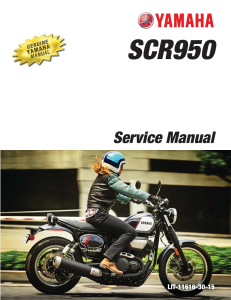 YAMAHA MOTORCYCLE SCR950 2017 Workshop & Repair manual | Documents and Forms | Manuals