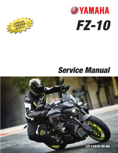 YAMAHA MOTORCYCLE FZ-10 2017 Workshop & Repair manual | Documents and Forms | Manuals