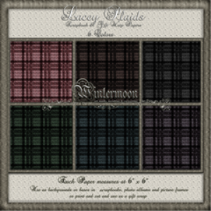 lacey plaids scrapbook papers