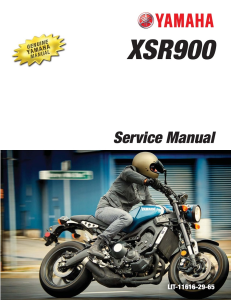yamaha motorcycle xsr900 workshop & repair manual