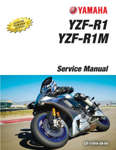 YAMAHA MOTORCYCLE YZF-RI YZF-R1M  Workshop & Repair manual | Documents and Forms | Manuals
