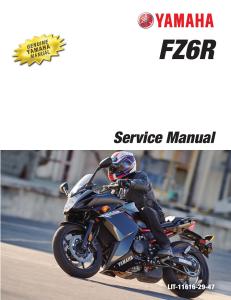 yamaha motorcycle fz6r 2016 2017 workshop & repair manual