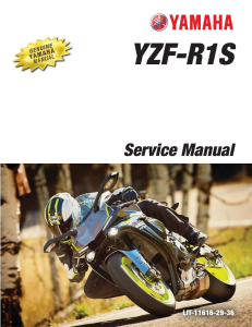 YAMAHA MOTORCYCLE YZF-R1S 2016 2017 Workshop & Repair manual | Documents and Forms | Manuals