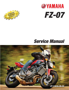 YAMAHA MOTORCYCLE FZ-07 2016 2017 Workshop & Repair manual | Documents and Forms | Manuals