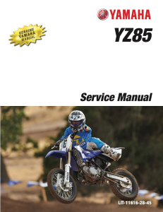 YAMAHA MOTORCYCLE YZ85 2015-2018 Workshop & Repair manual | Documents and Forms | Manuals