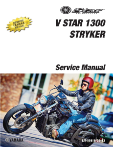 YAMAHA MOTORCYCLE STRYKER 2015-2017 Workshop & Repair manual | Documents and Forms | Manuals