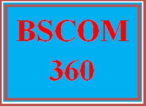 BSCOM 360 Wk 1 Team - Learning Team Charter   eBooks   Education