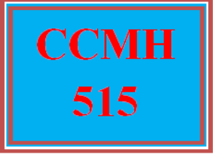 CCMH 515CA Wk 6 - Mid-Course Assessment | eBooks | Education