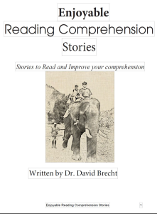 Short Story Reading Comprehension | eBooks | Education