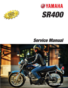 YAMAHA MOTORCYCLE SR400 2015-2018 Workshop & Repair manual | Documents and Forms | Manuals