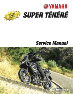 YAMAHA MOTORCYCLE SUPER TENERE Workshop & Repair manual | Documents and Forms | Manuals