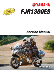 YAMAHA MOTORCYCLE FJR1300ES 2014-15 Workshop & Repair manual | Documents and Forms | Manuals