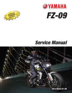 YAMAHA MOTORCYCLE FZ-09 2014-2016 Workshop & Repair manual | Documents and Forms | Manuals