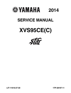 YAMAHA MOTORCYCLE BOLT 2014-2016 Workshop & Repair manual | Documents and Forms | Manuals