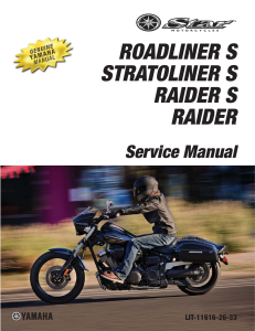 YAMAHA STRATOLINER S RAIDER 2013-17 Workshop & Repair manual | Documents and Forms | Manuals