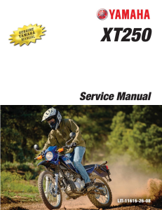 yamaha motorcycle xt250 2013-2020 workshop & repair manual