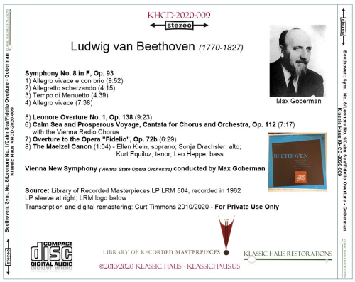 First Additional product image for - Max Goberman conducts Beethoven