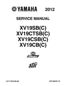 yamaha motorcycle raider roadliner  workshop & repair manual