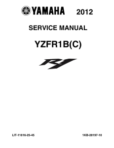 yamaha motorcycle yzf-r1 yzf-r1b(c) workshop & repair manual