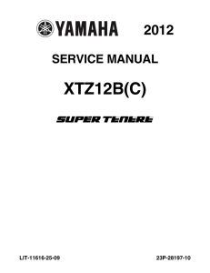 YAMAHA MOTORCYCLE SUPER TENERE 2012 Workshop & Repair manual | Documents and Forms | Manuals