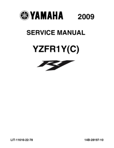 YAMAHA MOTORCYCLE YZF-R1 YZF-R1 LE Workshop & Repair manual   Documents and Forms   Manuals