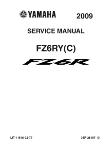 YAMAHA MOTORCYCLE FZ6R FZ6RY(C) Workshop & Repair manual | Documents and Forms | Manuals