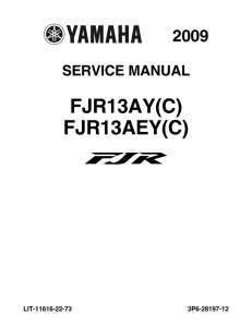 YAMAHA MOTORCYCLE FJR 1300A  Workshop & Repair manual | Documents and Forms | Manuals