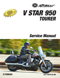 YAMAHA MOTORCYCLE V STAR 950 Workshop & Repair manual | Documents and Forms | Manuals