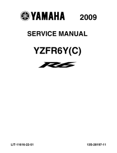 yamaha motorcycle yzf-r6 2009-2015 workshop & repair manual