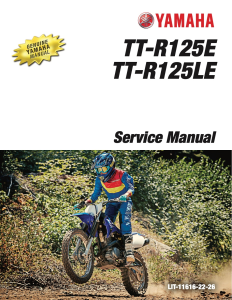YAMAHA MOTORCYCLE TT-R125LE  Workshop & Repair manual | Documents and Forms | Manuals