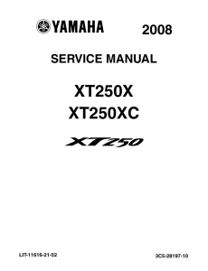 yamaha motorcycle xt250x xt250xc  workshop & repair manual