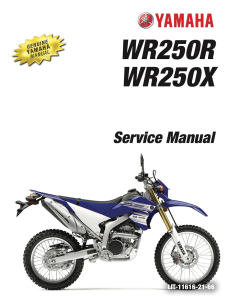 YAMAHA MOTORCYCLE WR250R WR250X  Workshop & Repair manual | Documents and Forms | Manuals