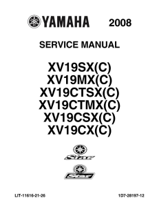 YAMAHA MOTORCYCLE XV19SX(C)  Workshop & Repair manual | Documents and Forms | Manuals