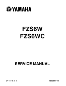 YAMAHA MOTORCYCLE FZS6W FZS6WC FZ6 Workshop & Repair manual | Documents and Forms | Manuals