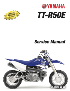 YAMAHA MOTORCYCLE TT-R50E TT-R50EW  Workshop & Repair manual | Documents and Forms | Manuals