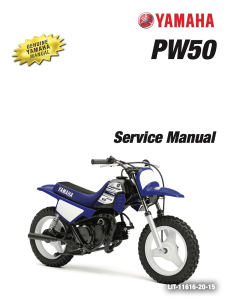 yamaha motorcycle pw50 pw50e  workshop & repair manual