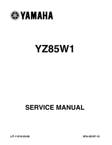 yamaha motorcycle yz85 yz85w1  workshop & repair manual