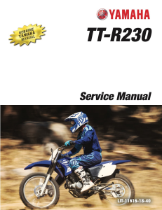 YAMAHA MOTORCYCLE TT-R230  Workshop & Repair manual   Documents and Forms   Manuals