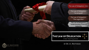 law of delegation series