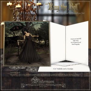 ring the bell printable greeting card & envelope set