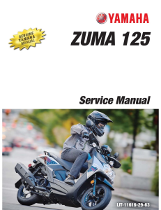 yamaha scooter zuma 125 2016-2020  workshop & repair manual