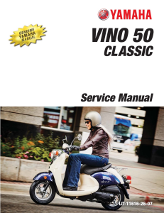 YAMAHA SCOOTER VINO CLASSIC  Workshop & Repair manual | Documents and Forms | Manuals