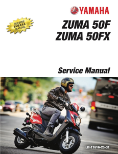 YAMAHA SCOOTER ZUMA 50F  Workshop & Repair manual | Documents and Forms | Manuals