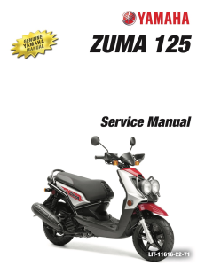 yamaha scooter zuma 125 2009-2015  workshop & repair manual