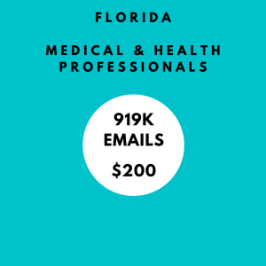 fl dr health professionals email list